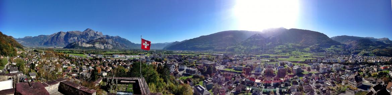 Banner: Blocher über Mandela | Junge SVP Kanton St. Gallen