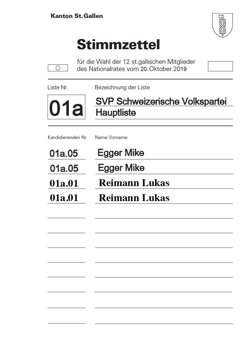 Egger und Reimann wieder in den Nationalrat! (Montag, 30.09.2019)